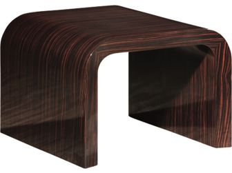 Walnut High Gloss with Curved Sides Coffee Table - CF1383