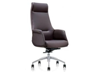 High Quality Genuine Brown Leather Executive Office Chair - YS1603A