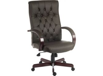 Traditional Leather Executive Chair WARWICK