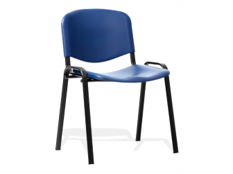 Dynamic ISO Poly Plastic Chair with Black Frame