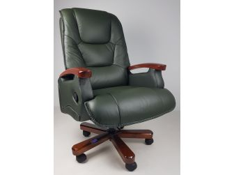 Luxury Green Leather Executive Office Chair CHA-HB-A302