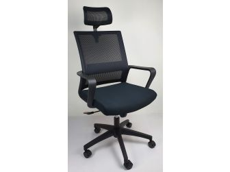 CHA-HB-307A Mesh Office Chair with Headrest