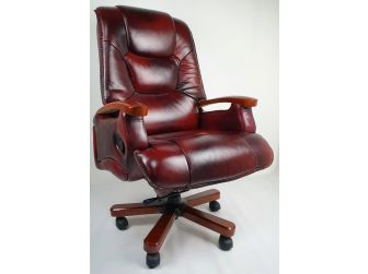 Luxury Burgundy Leather Executive Office Chair CHA-HB-A302