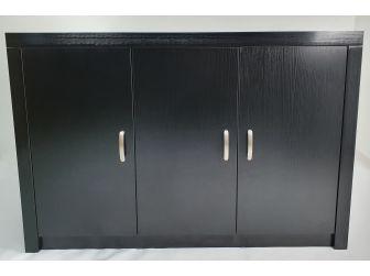 Quality Executive 3 Door Office Cupboard Credenza in Black Ash BG-892