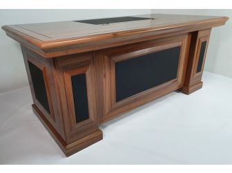 Executive Light Oak Desk With Leather DES-1819 1800mm