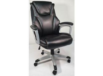 Black Leather Executive High Back Office Chair - CS-2208E