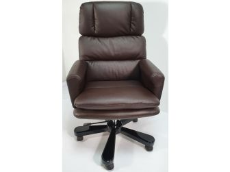 Luxury Office Chair In Brown Leather DES-A019