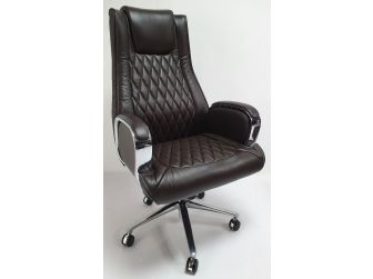 Brown Leather Executive Office Chair - CHA-1202A