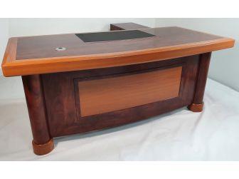 Executive Desk In 2 Tone Mahogany & Walnut Finish HSN-1862 - 1.8m 2m Wide Options