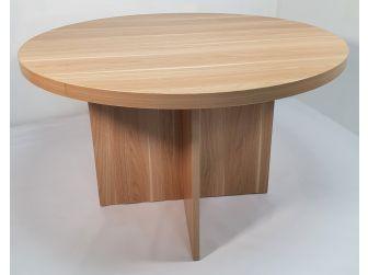 Quality Light Oak Round Meeting Table - HSN009-MET