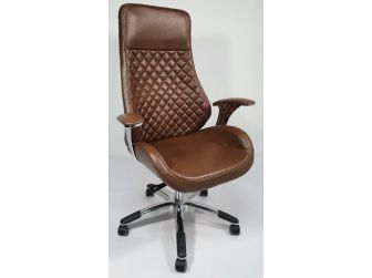 Contemporary Brown Leather Reclining Executive Office - YS1107A