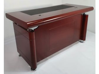 Small Mahogany Executive Office Desk with Pedestal - 1861