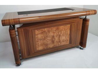 Small Light Oak Executive Office Desk with Pedestal - 1861
