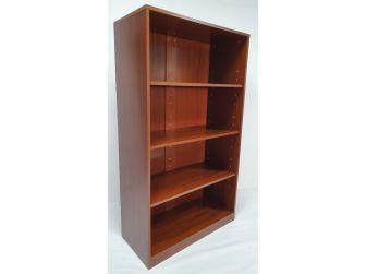 Real Wood Light Walnut Veneer Executive Bookshelf BCK-1861-AB01