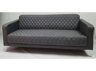 Modern Grey Leather Executive Sofa Set - F112