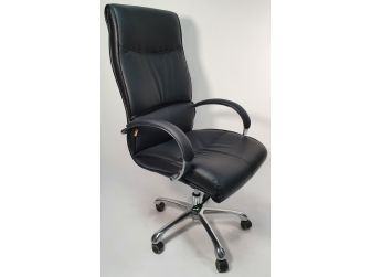Modern Black Leather Executive Office Chair- YS-019A