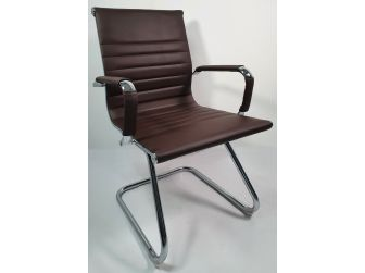 Brown Microfibre Leather Eames Visitor Chair - E13-BROWN