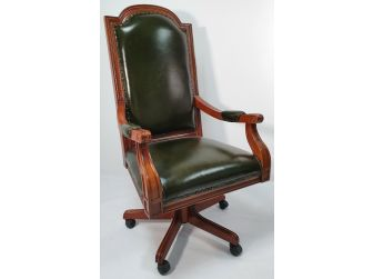 Green Leather Emperor High Back Executive Office Chair - K230