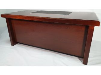 Walnut Real Wood Veneer Executive Desk - BSE181