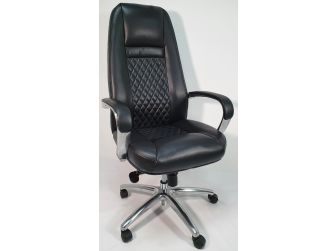 High Back Executive Black Leather Office Chair - 1712A