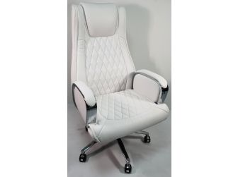 White Leather Executive Office Chair - CHA-1202A