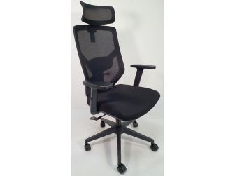 Black Fabric Seat and Airmesh Back Ergonomic Office Chair - MS1812B