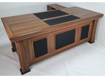 Quality Light Oak Executive Desk with Leather detailing DES-2233