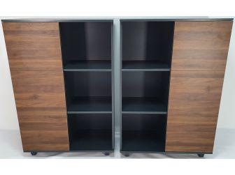 Walnut and Grey Modular Cupboard - CD0804