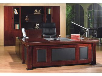 Quality  Mahogany Executive Desk with Leather detailing DES-2233 2000mm 2200mm