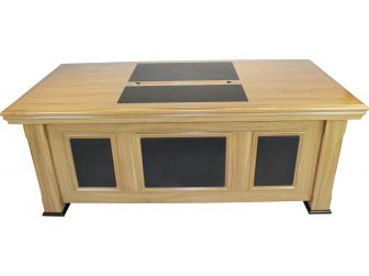 Quality  Light Oak Executive Desk with Leather detailing DES-2233 2000mm and  2200mm available