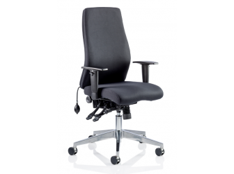 Dynamic Onyx Fabric Executive Office Chair
