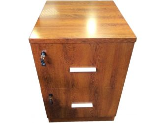 Executive 2 Drawer Filing Cabinet - DES-2D-FIL-Medium Oak