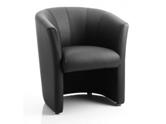Dynamic Neo Single Tub Reception Chair in Leather