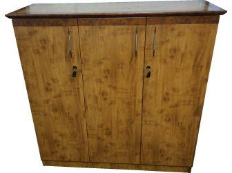 3 Door Tall Two Tone Yew Executive Office cupboard