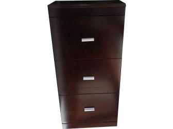 3 Drawer Filing Cabinet in Dark Walnut