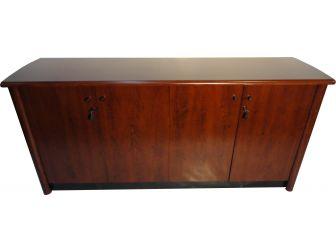 Medium Oak finish 4 door office cupboard