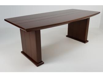 Real Wood Veneer Executive Boardroom Table in Light Walnut - MET-517