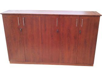 5 Door Tall Medium Oak Executive Office cupboard