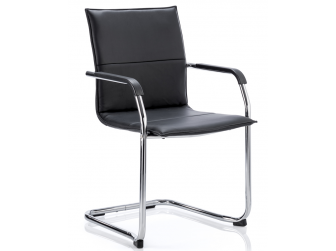 Dynamic Echo Bonded Leather Visitor Chair - Available in Black, White or Red