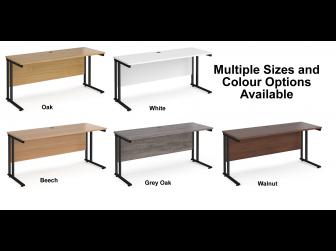 Maestro 600mm Deep Straight Cantilever Leg Office Desk