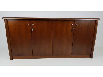 Real Wood Veneer Four Door Executive Walnut Cupboard - 6846T