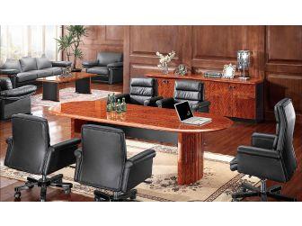 Executive Walnut Gloss Veneered Boardroom Table - 6847C