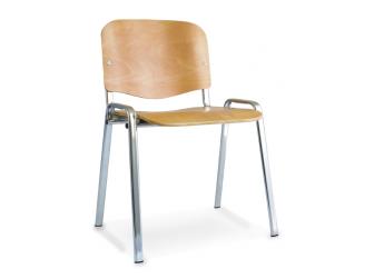 Dynamic ISO Chrome Frame Beech Chair