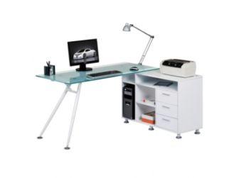 Augusta Glass Computer Desk AW13366A-CL