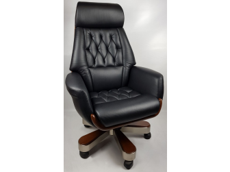 Black Leather Luxury Executive Office Chair - YS1505A