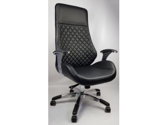 Contemporary Black Leather Reclining Executive Office - YS1107A