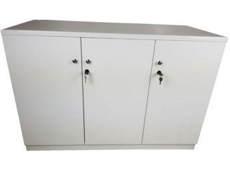 White Gloss Executive Three Door Cupboard - 6846TD