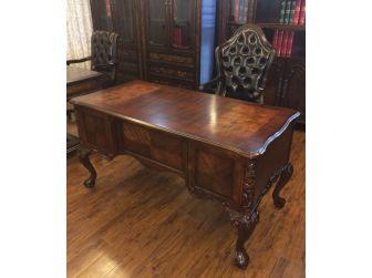 Bespoke Antique Design Reproduction Walnut Executive Writing Desk - HO-216062-1500mm