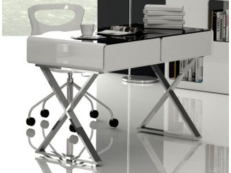 Aquila MT701A Gloss White Home Office Desk with Drawers