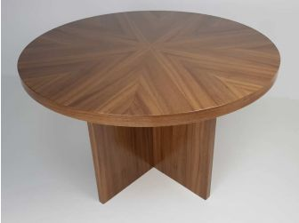 Executive Round Meeting Room Table Oak DES-MET-1861-R-O
